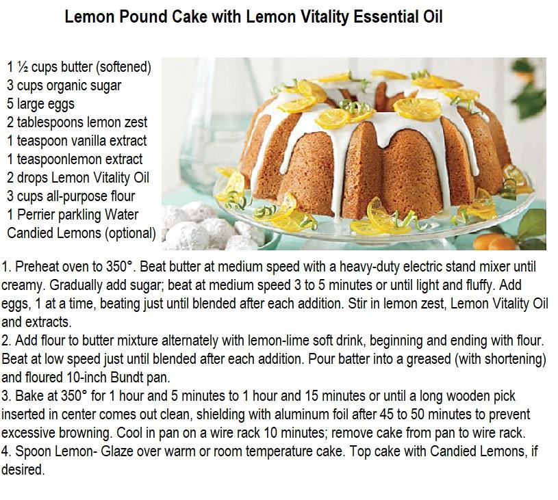 lemon pound cake with EO